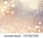 gold vintage fireworks and... | Shutterstock . vector #727337395