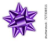 Purple Bow Ribbon Decor Elemen...
