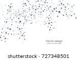 abstract molecule background ... | Shutterstock .eps vector #727348501