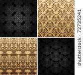 Seamless Gold Set Four Vintage...