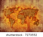 world map textures and...   Shutterstock . vector #7273552