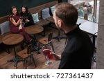 female seduction. gossips about ... | Shutterstock . vector #727361437