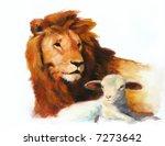 Lion   Lamb Painting