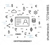 virtual currency ...   Shutterstock .eps vector #727364881