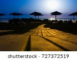 wooden pavement on the beach at ... | Shutterstock . vector #727372519