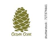 cedar cone  sketch for your... | Shutterstock .eps vector #727374661