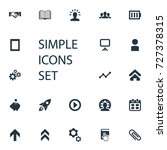 vector illustration set of... | Shutterstock .eps vector #727378315