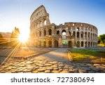 colosseum at sunrise  rome ... | Shutterstock . vector #727380694