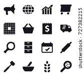 16 vector icon set  ...   Shutterstock .eps vector #727382215