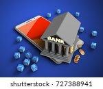 3d illustration of white phone... | Shutterstock . vector #727388941
