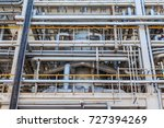 equipment and pipelines at the... | Shutterstock . vector #727394269