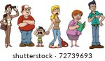 people waiting in line. the... | Shutterstock .eps vector #72739693