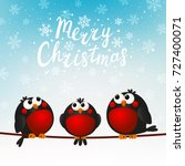 christmas greeting card with... | Shutterstock .eps vector #727400071
