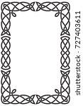 rectangular vertical celtic... | Shutterstock .eps vector #727403611