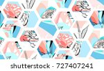 hand drawn vector artistic... | Shutterstock .eps vector #727407241