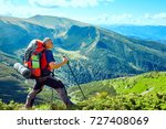 hiking  the concept of an... | Shutterstock . vector #727408069
