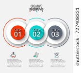 abstract infographics number... | Shutterstock .eps vector #727408321