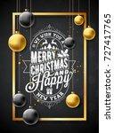 vector merry christmas... | Shutterstock .eps vector #727417765