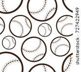 baseball seamless pattern | Shutterstock .eps vector #727422949