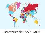vector world map | Shutterstock .eps vector #727426801
