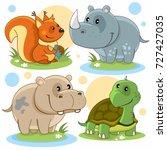 cartoon pictures depicting... | Shutterstock .eps vector #727427035