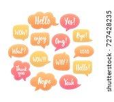 trendy dashed speech bubbles... | Shutterstock .eps vector #727428235