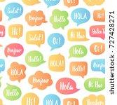 color speech bubbles seamless... | Shutterstock .eps vector #727428271