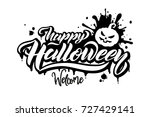 happy halloween vector... | Shutterstock .eps vector #727429141