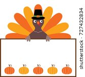 thanksgiving vector card with a ... | Shutterstock .eps vector #727432834