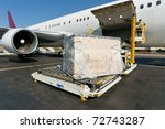 Loading platform of air freight ...