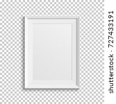 realistic white picture frame... | Shutterstock .eps vector #727433191