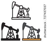 oil field energy derrick icon... | Shutterstock .eps vector #727437037