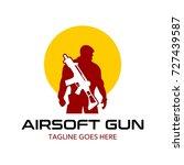 unique air soft gun logo | Shutterstock .eps vector #727439587