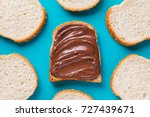 delicious chocolate sandwich... | Shutterstock . vector #727439671