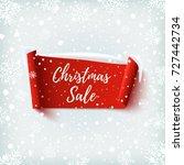 christmas sale banner. red...   Shutterstock .eps vector #727442734