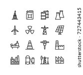 industry tools   icon set   Shutterstock .eps vector #727443415