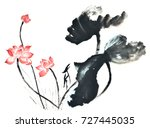 chinese style drawings ... | Shutterstock . vector #727445035