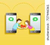 social network concept modern... | Shutterstock .eps vector #727446361