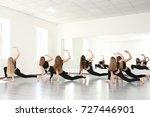 group of young dancers in studio | Shutterstock . vector #727446901