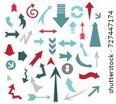 arrows designer pack | Shutterstock .eps vector #727447174