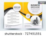front and back cover of a... | Shutterstock .eps vector #727451551