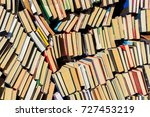 background of old books  in a... | Shutterstock . vector #727453219