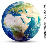 planet earth globe. elements of ... | Shutterstock . vector #727455295