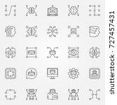 machine learning icons set.... | Shutterstock .eps vector #727457431