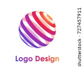 colorful bright logotype... | Shutterstock .eps vector #727457911