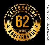 62 years anniversary logo....   Shutterstock .eps vector #727458757