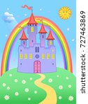 Castel In Air And Rainbow