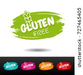 set of gluten free badges.... | Shutterstock .eps vector #727465405
