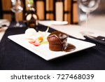 sticky toffee with dattels ... | Shutterstock . vector #727468039