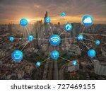 transportation and... | Shutterstock . vector #727469155